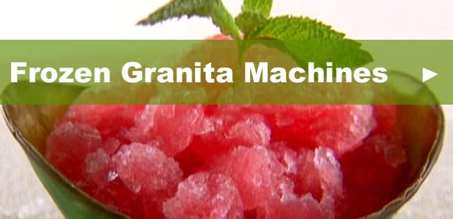 Frozen Granita Machines